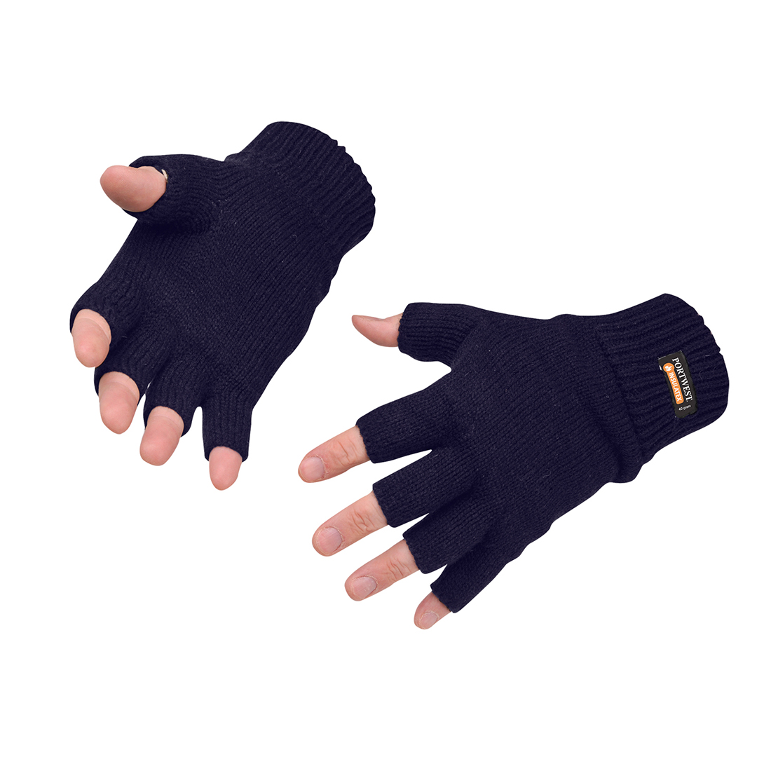 Fingerfreie Insulatex Strick-Handschuhe